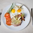 English breakfast on the plate — Stock Photo #1383732