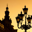 Royalty-Free Stock Photo: Silhouettes of city lantern