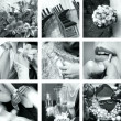 Black and white wedding photos - Stock Photo