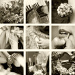 Wedding photos in sepia — Stock Photo #1387963