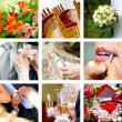 Color wedding photos - Stock Photo