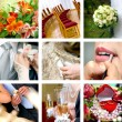 Color wedding photos - Stockfoto