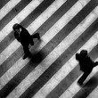 Busy walk scene on the stripped floor - Foto de Stock  