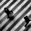 Busy walk scene on the stripped floor - Stock fotografie