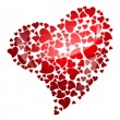 Red heart for valentine&#039;s day - Foto Stock