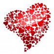 Red heart for valentine&#039;s day - Stock Photo