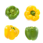 Yellow and green pepper — Stock Photo