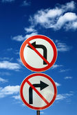 Two opposite road signs — Foto Stock