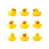 Rubber yellow ducks — Stock Photo
