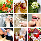 Färg bröllopsbilder — Stockfoto