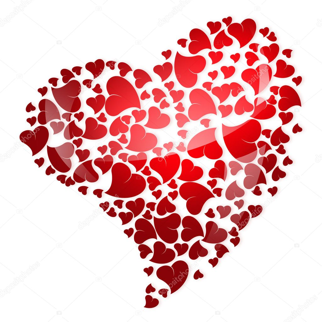 Red heart for valentine's day — Stockfoto #1389863