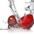 Red beet with water splash isolated — Stock Photo #2635208