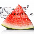 Watermelon and water splas — Stock Photo