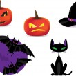 Set of Halloween detailed icons — Stock Vector