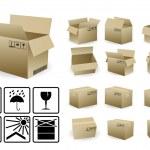 Shipping box — Stock Vector