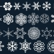 Snow flakes — Vettoriali Stock