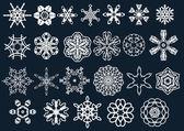 Snow flakes — Stock Vector