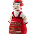 Funny cow in russian traditional costume — Stock Photo #1517134