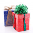 Two gift boxes decorated — Stock Photo
