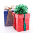 Two gift boxes decorated — Stock Photo #1587693