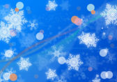 Snowflake background in blue — Stock Photo