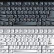Black and white vector pc keyboard — 图库矢量图片