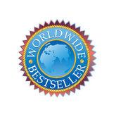 Hoge kwaliteit wereldwijd bestseller sticke — Stockvector