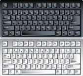 Black and white vector pc keyboard — ストックベクタ