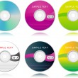 Royalty-Free Stock Vector Image: Vector set of high detailed blank CDs