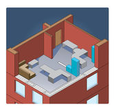 Vector office building isometric — ストックベクタ