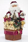 Regalo de navidad con santa claus aislados — Foto de Stock