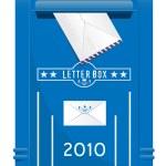 详细的孤立的矢量变高 mailbo — 图库矢量图片