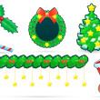 Set of xmas decoration - Stock Vector