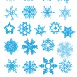 Snowflake set #3 — Stock Vector