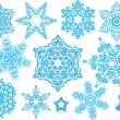 Snowflake set #4 — Stock Vector