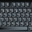 Stock Vector: Black vector pc keyboard