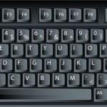 czarny wektor klawiatury pc — Wektor stockowy