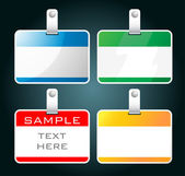 Set of colorful blank badges — Stock Vector