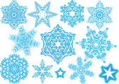 Snowflake set #4 — Stockvector
