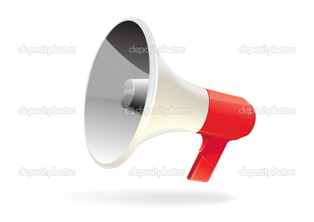 Vector megaphone isolated — Stock Vector #1703204