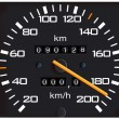 Stock Vector: Vector detailed speedometer, easy for ed