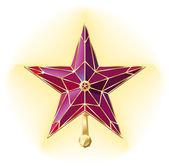 Vector kremlin ruby star — Stock Vector