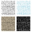 Set of seamless handwriting vector textu - Image vectorielle
