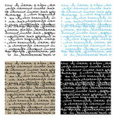 Set of seamless handwriting vector textu — Vettoriale Stock
