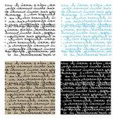 Set van naadloze handschrift vector textu — Stockvector