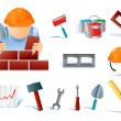 Set of builders tools #02 — Stock Vector