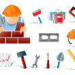 Set of builders tools #02 — Stock Vector #1885238