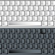 Black and white vector keyboards — Imagen vectorial