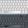 黑色和白色矢量键盘 — 图库矢量图片