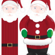 Stock Vector: Santclaus figure